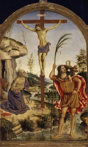 Mostra Pintoricchio Crocifisso tra i Santi Girolamo e Cristoforo