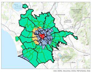 suddivisione di Roma: Municipi, Rioni, qurtieri, suburbi e zone Agro Romano