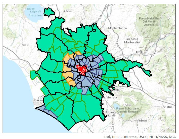 Quartieri Roma Cartina.Suddivisioni Di Roma Municipi Rioni E Quartieri Di Roma